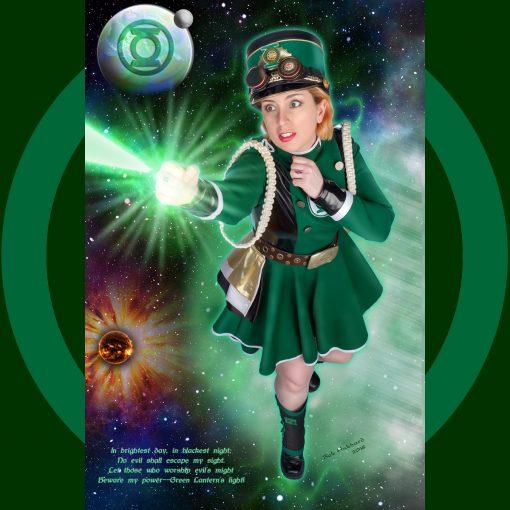 Cosplay Pin Up Photography, Buffalo NY - Steampunk Green Lantern