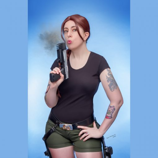 Cosplay Pin Up Photography, Buffalo NY - Laura Croft