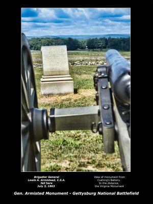 Confederate general Lewis Armistead Monument Gettysburg