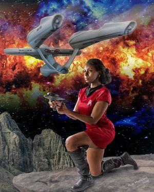 Star Trek Abramsverse Uhura Featuring Jessica Smith by Bob Hubbard
