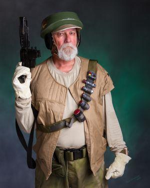 Rebel Alliance Endor Trooper Nik Sant portrayed by Tom Schobert