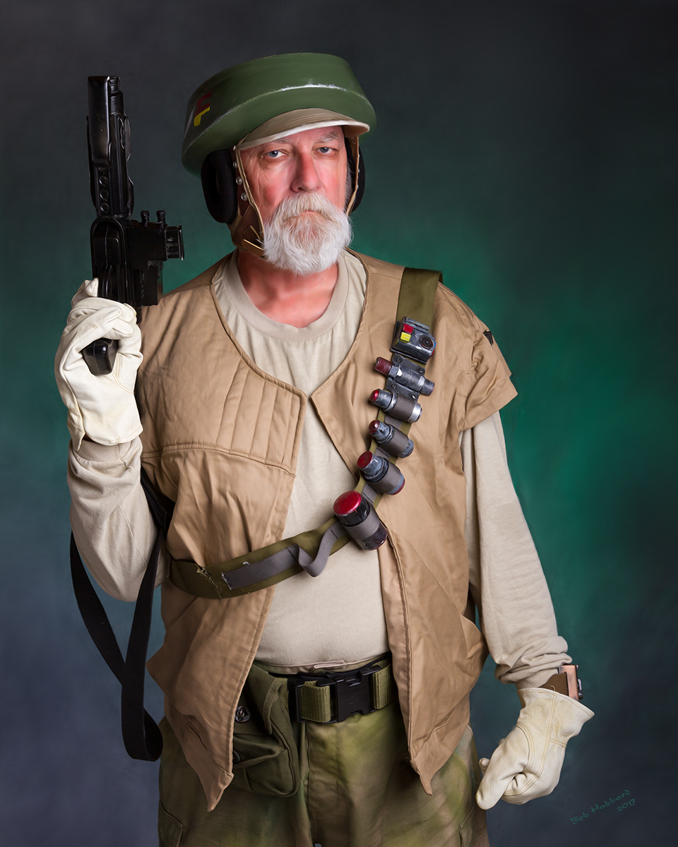 Rebel Alliance Endor Trooper Nik Sant portrayed by Tom Schobert