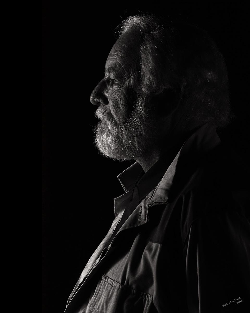 General Jan Dodonna - Low Key portrait by Bob Hubbard 2017