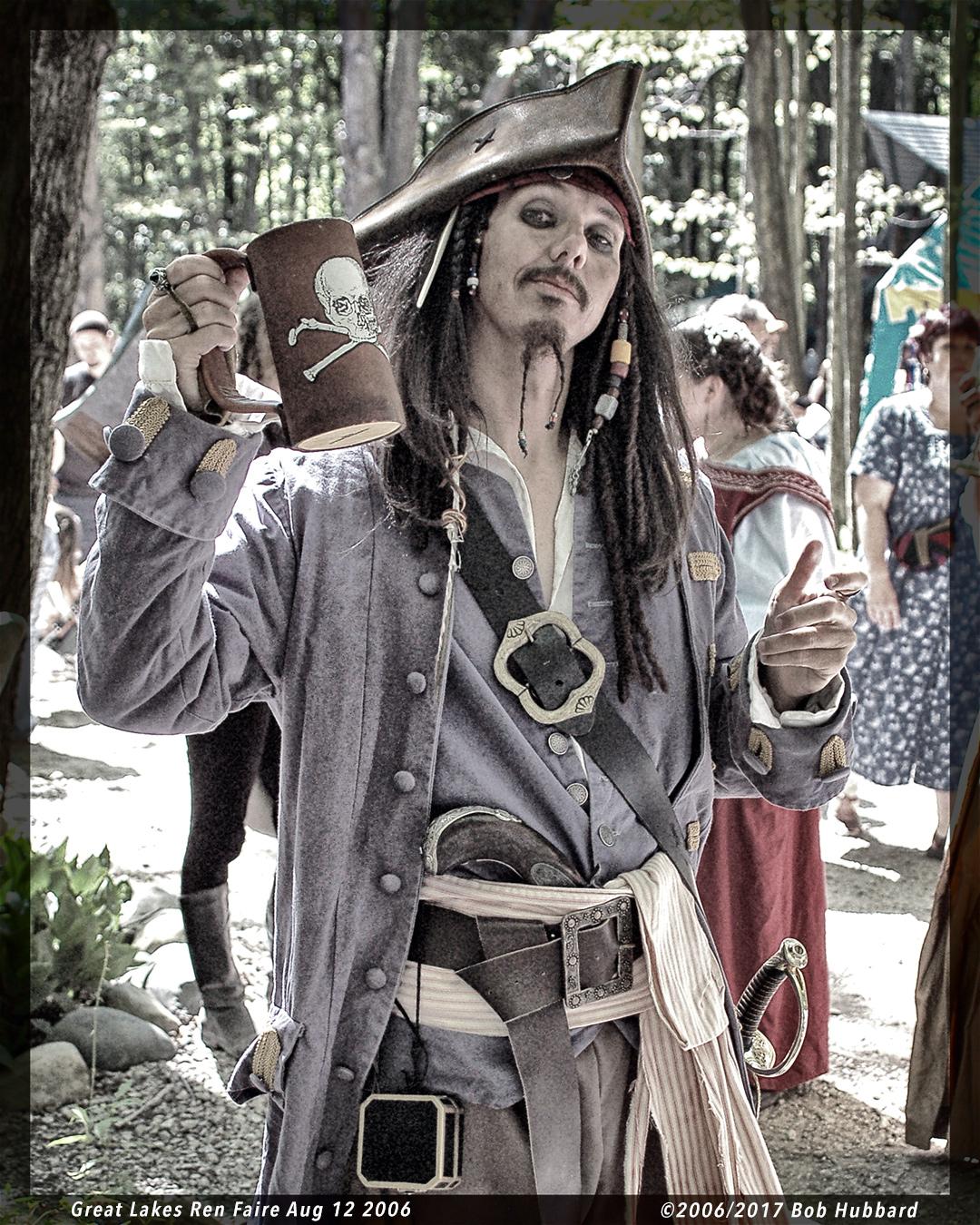 Throwback Thursday. Great Lakes Ren Faire Aug 12 2006 Excellent faire, great Jack Sparrow.